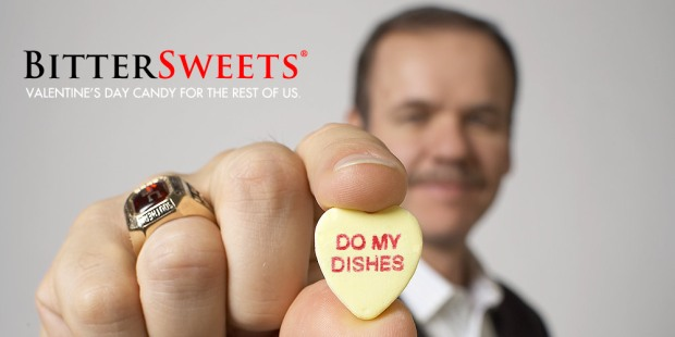 Click picture to see the latest dysfunctional candy hearts!